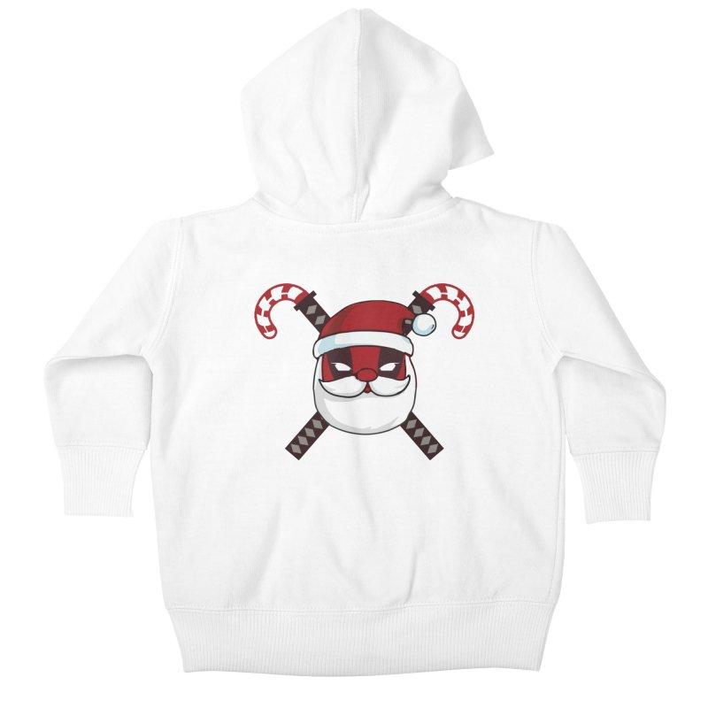 Deadpool Claus Kids Baby Zip-Up Hoody by daniac's Artist Shop