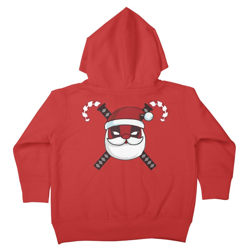 Deadpool Claus Kids Toddler Zip-Up Hoody by daniac's Artist Shop