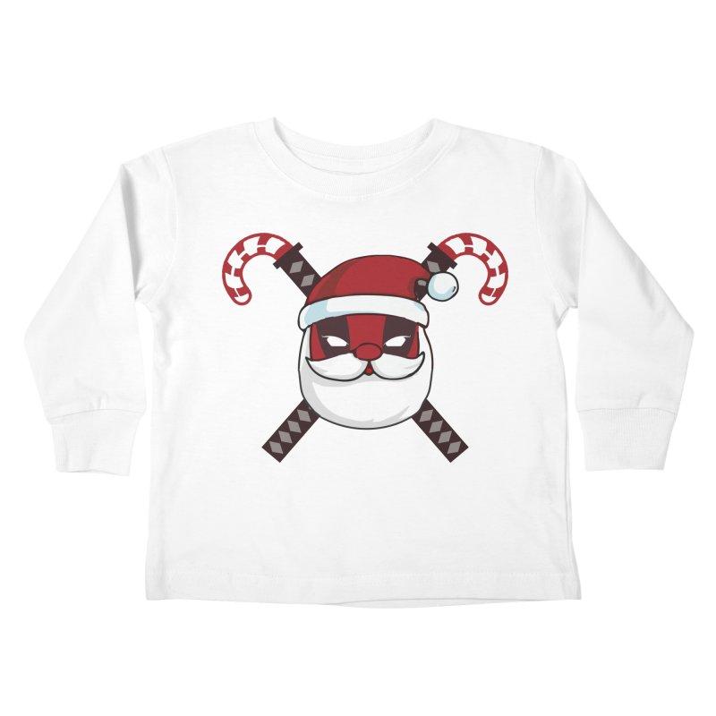 Deadpool Claus Kids Toddler Longsleeve T-Shirt by daniac's Artist Shop