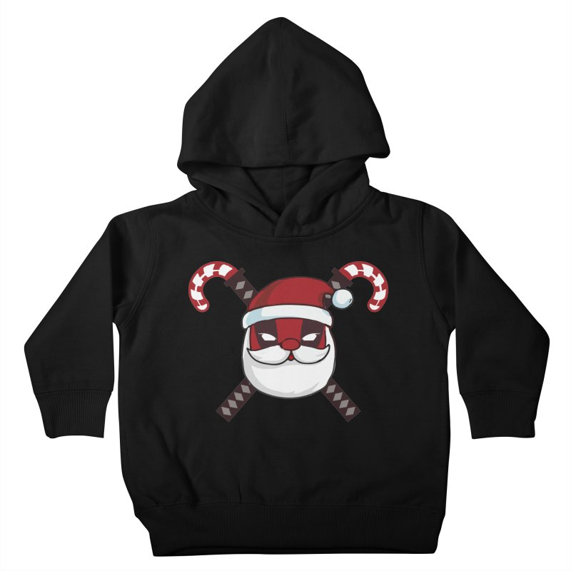 Deadpool Claus Kids Toddler Pullover Hoody by daniac's Artist Shop