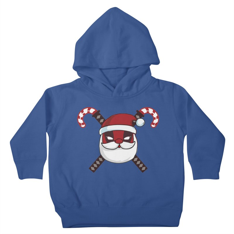 Deadpool Claus Kids Toddler Pullover Hoody by daniac's Artist Shop