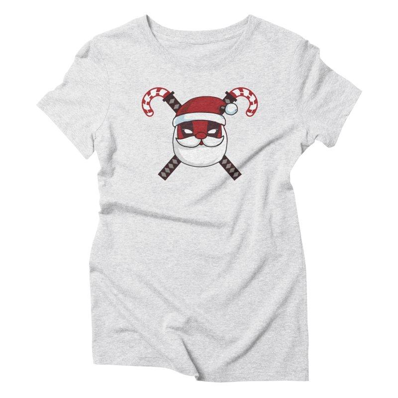 Deadpool Claus Women's T-Shirt by daniac's Artist Shop