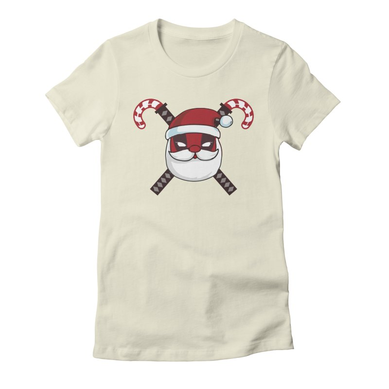 Deadpool Claus Women's Fitted T-Shirt by daniac's Artist Shop