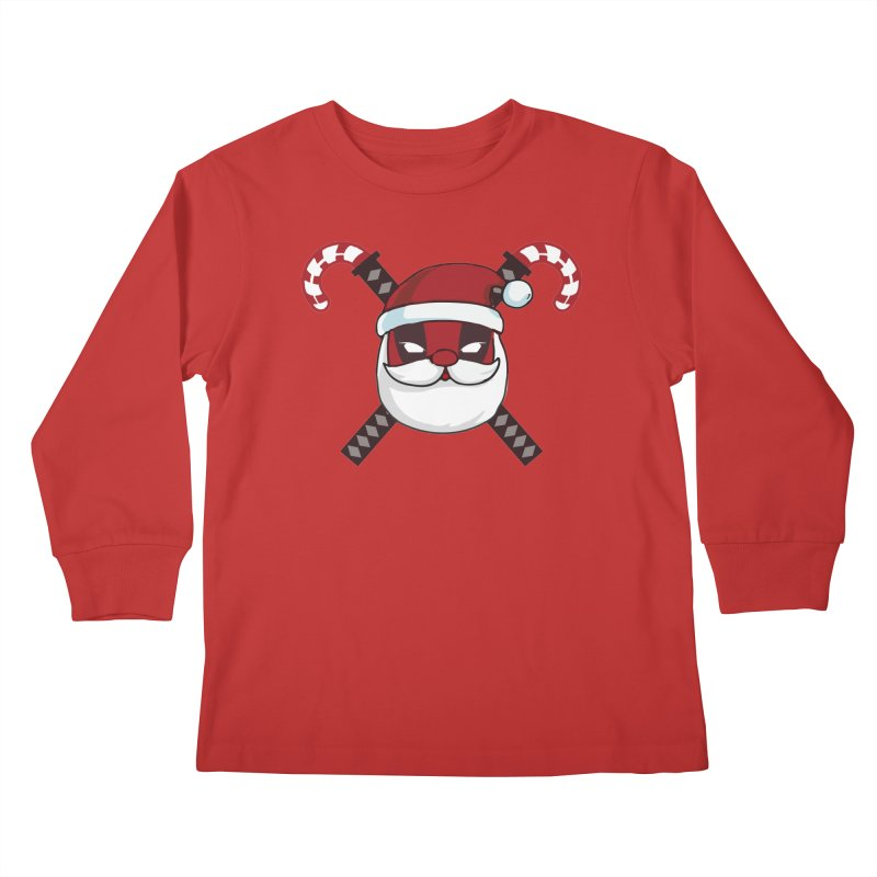 Deadpool Claus Kids Longsleeve T-Shirt by daniac's Artist Shop