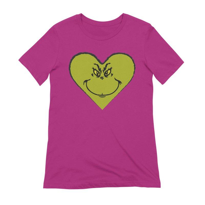 Grinch heart Women's Extra Soft T-Shirt by daniac's Artist Shop