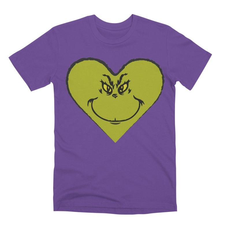 Grinch heart Men's Premium T-Shirt by daniac's Artist Shop