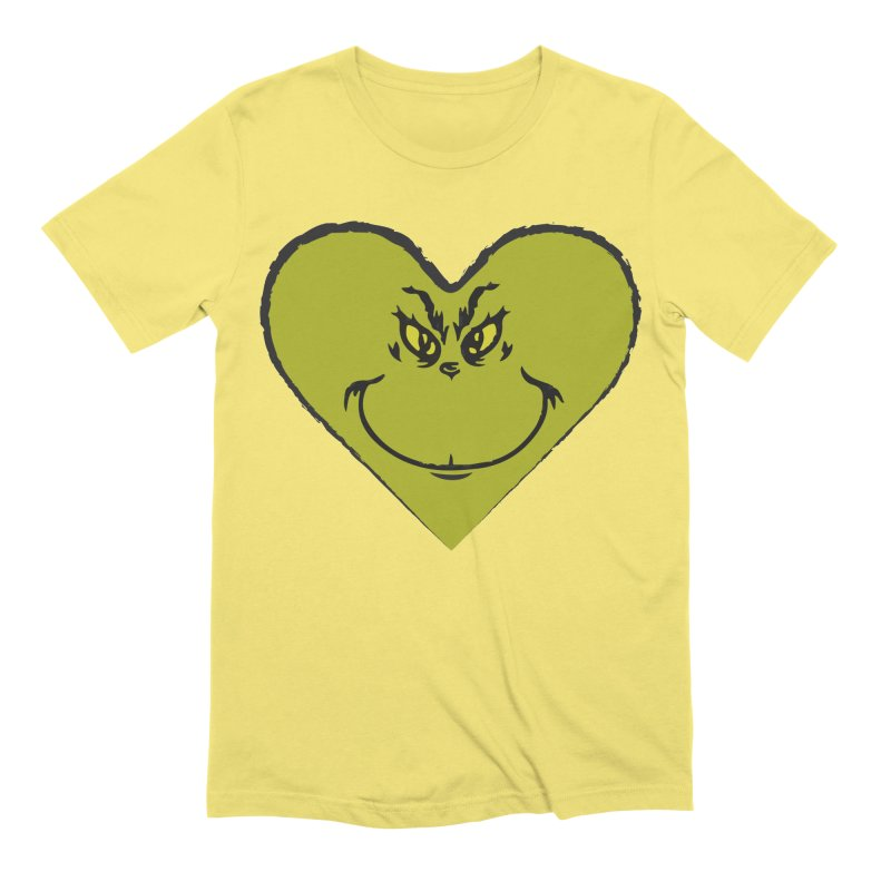 Grinch heart Men's Extra Soft T-Shirt by daniac's Artist Shop