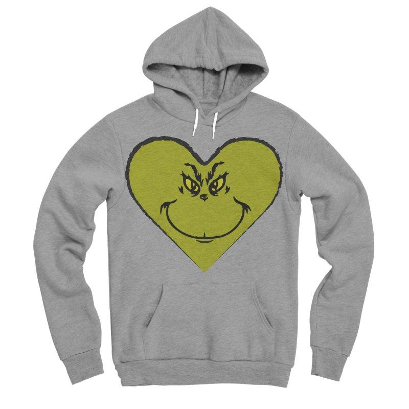 Grinch heart Men's Sponge Fleece Pullover Hoody by daniac's Artist Shop