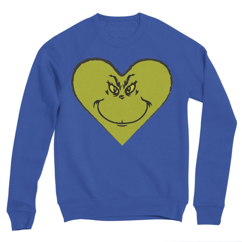Grinch heart Men's Sponge Fleece Sweatshirt by daniac's Artist Shop
