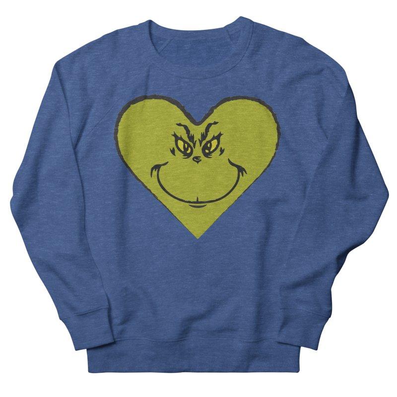 Grinch heart Men's Sweatshirt by daniac's Artist Shop