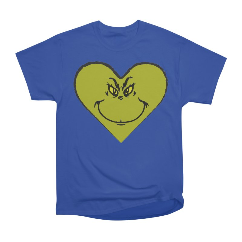 Grinch heart Women's Heavyweight Unisex T-Shirt by daniac's Artist Shop