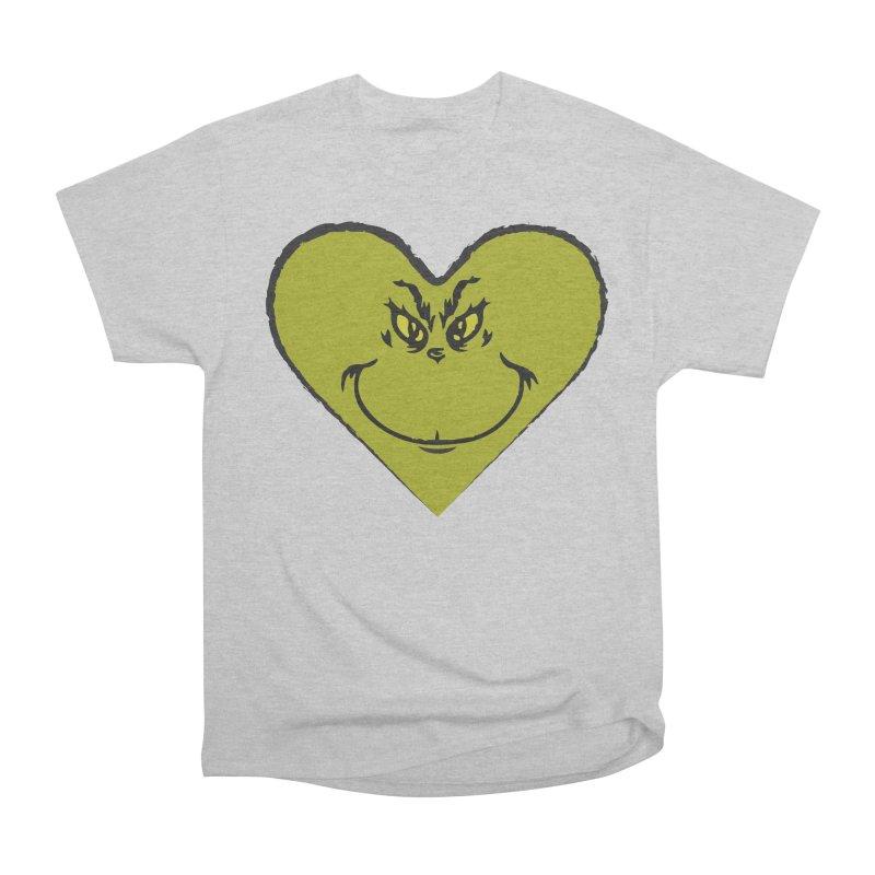 Grinch heart Men's Heavyweight T-Shirt by daniac's Artist Shop