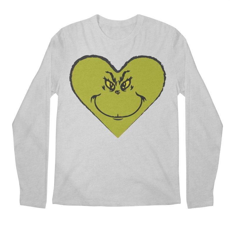 Grinch heart Men's Regular Longsleeve T-Shirt by daniac's Artist Shop