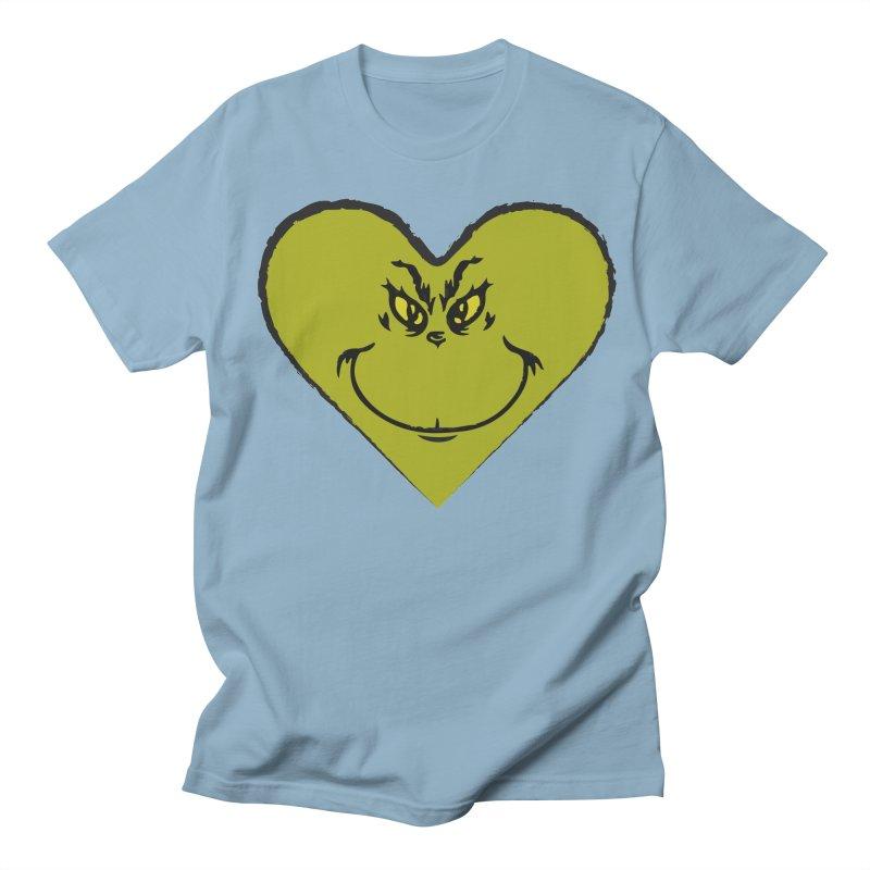 Grinch heart Women's Regular Unisex T-Shirt by daniac's Artist Shop