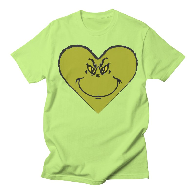Grinch heart Women's Regular Unisex T-Shirt by daniac's Artist Shop