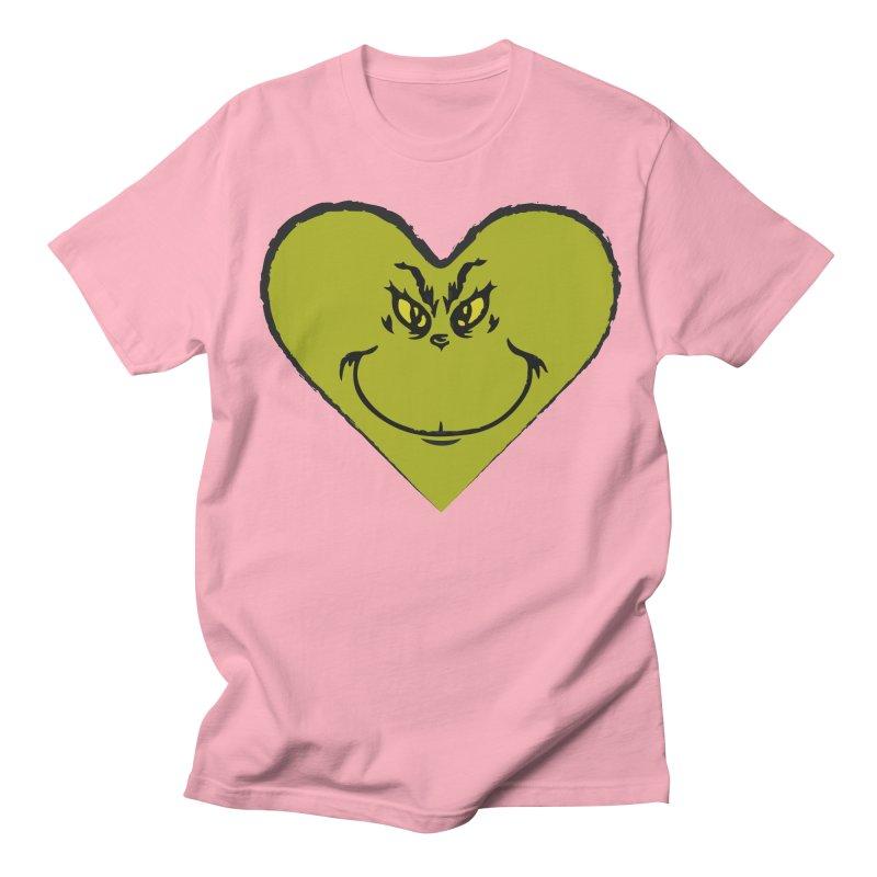 Grinch heart Men's Regular T-Shirt by daniac's Artist Shop
