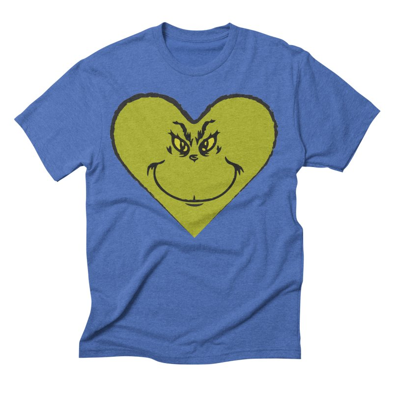 Grinch heart Men's Triblend T-Shirt by daniac's Artist Shop