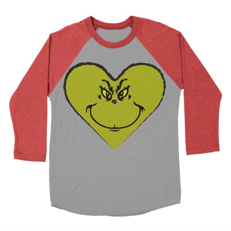 Grinch heart Women's Baseball Triblend Longsleeve T-Shirt by daniac's Artist Shop