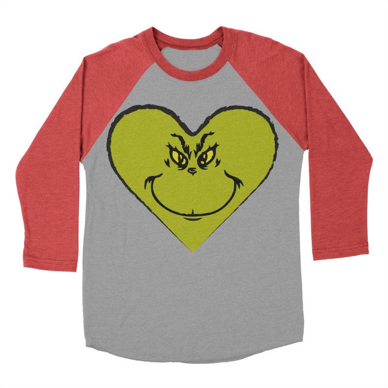 Grinch heart Men's Baseball Triblend Longsleeve T-Shirt by daniac's Artist Shop