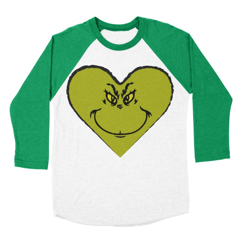 Grinch heart Men's Baseball Triblend Longsleeve T-Shirt by daniac's Artist Shop