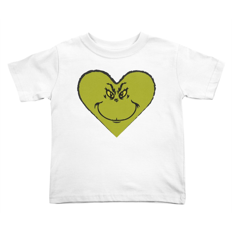 Grinch heart Kids Toddler T-Shirt by daniac's Artist Shop