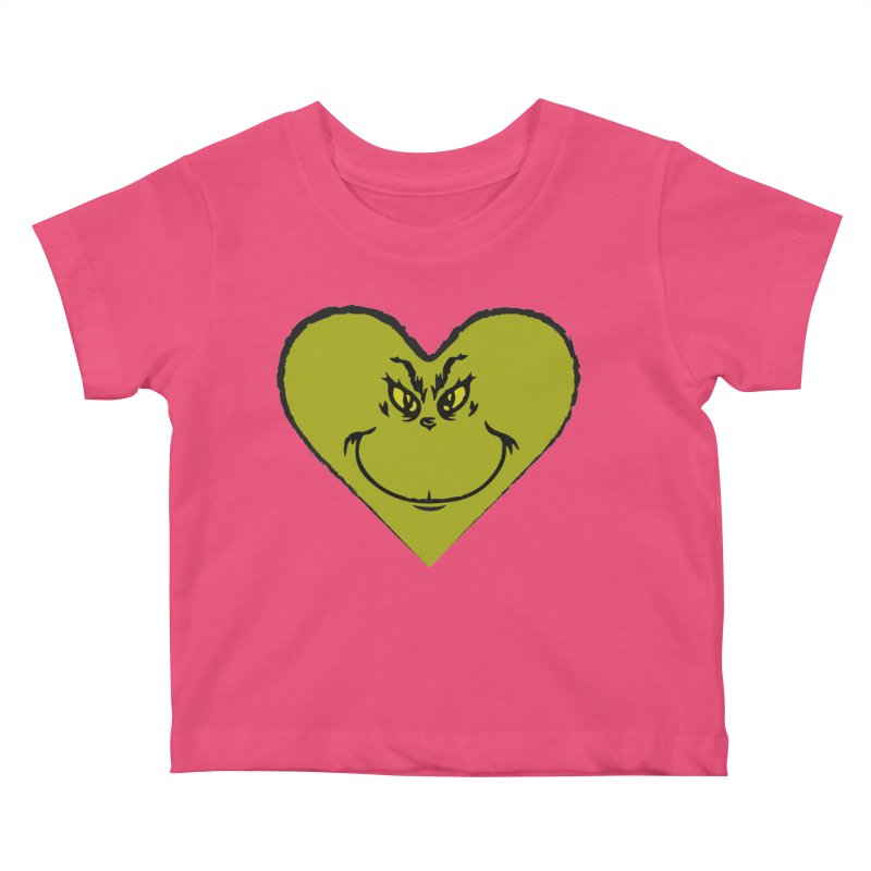 Grinch heart Kids Baby T-Shirt by daniac's Artist Shop