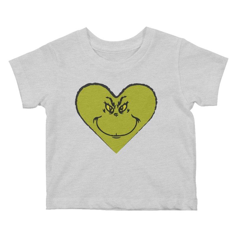 Grinch heart Kids Baby T-Shirt by daniac's Artist Shop