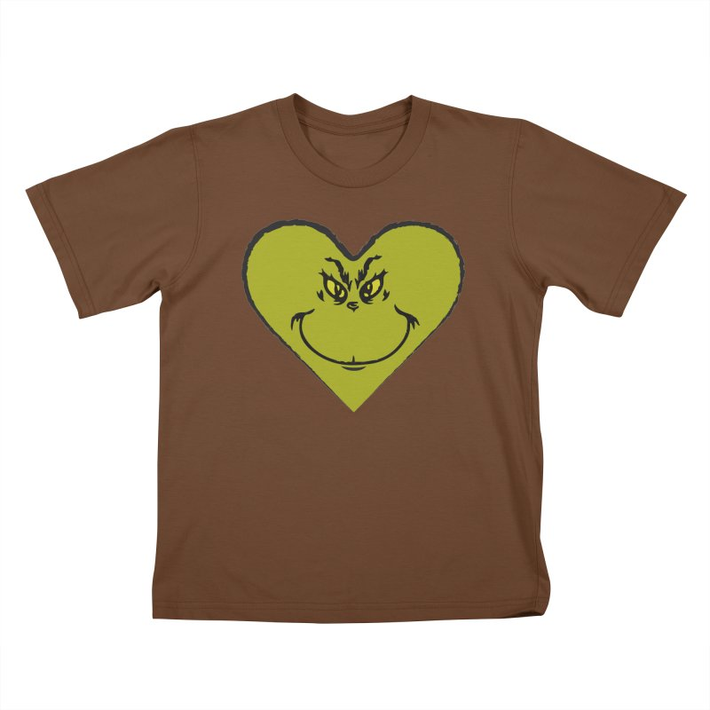 Grinch heart Kids T-Shirt by daniac's Artist Shop