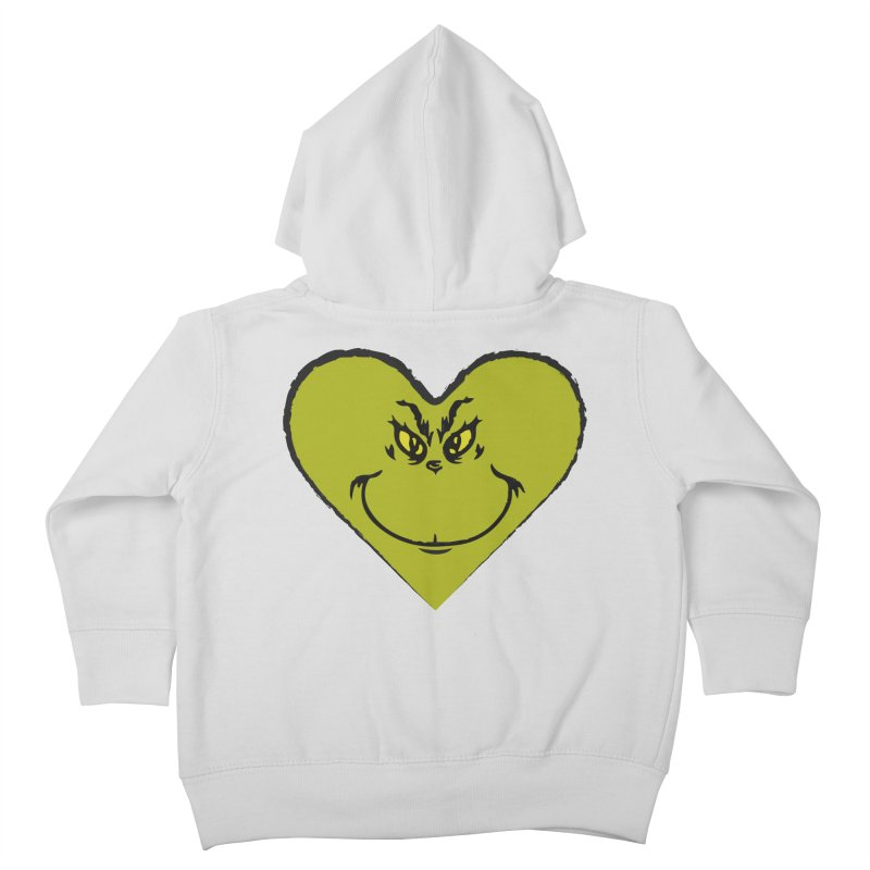 Grinch heart Kids Toddler Zip-Up Hoody by daniac's Artist Shop