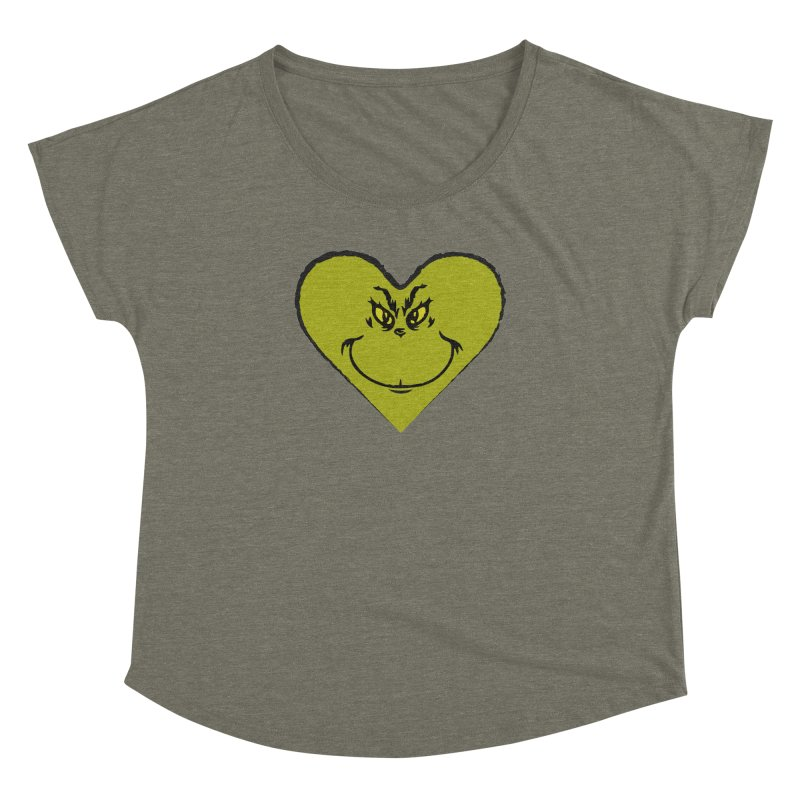 Grinch heart Women's Dolman Scoop Neck by daniac's Artist Shop