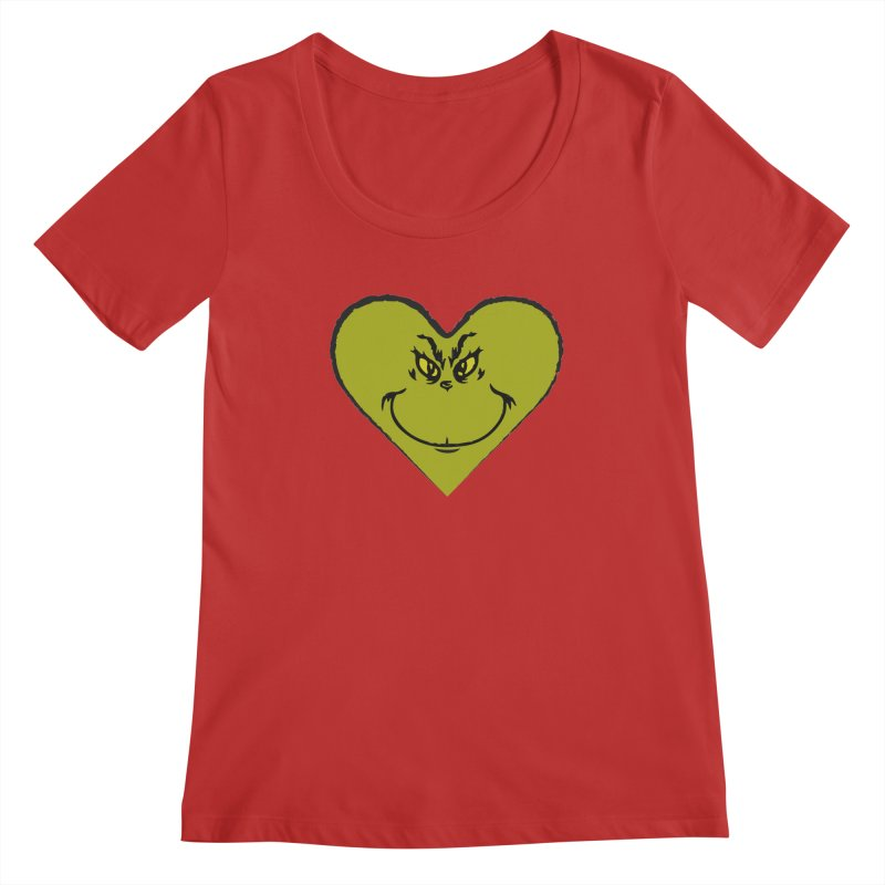 Grinch heart Women's Regular Scoop Neck by daniac's Artist Shop