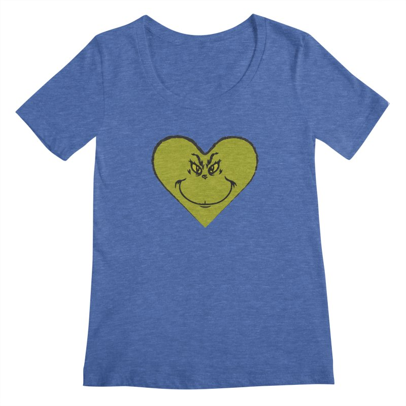 Grinch heart Women's Regular Scoop Neck by daniac's Artist Shop