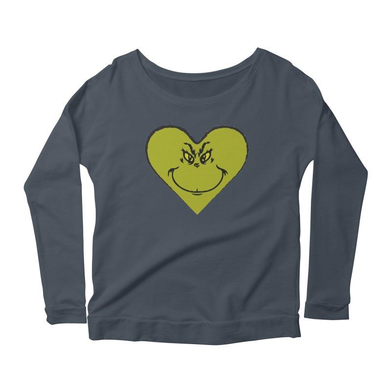 Grinch heart Women's Scoop Neck Longsleeve T-Shirt by daniac's Artist Shop