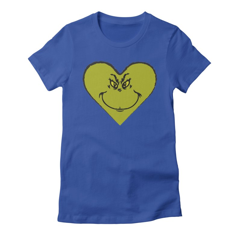 Grinch heart Women's Fitted T-Shirt by daniac's Artist Shop