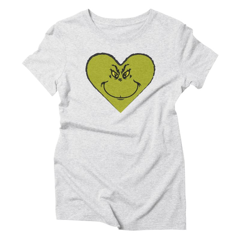 Grinch heart Women's Triblend T-Shirt by daniac's Artist Shop