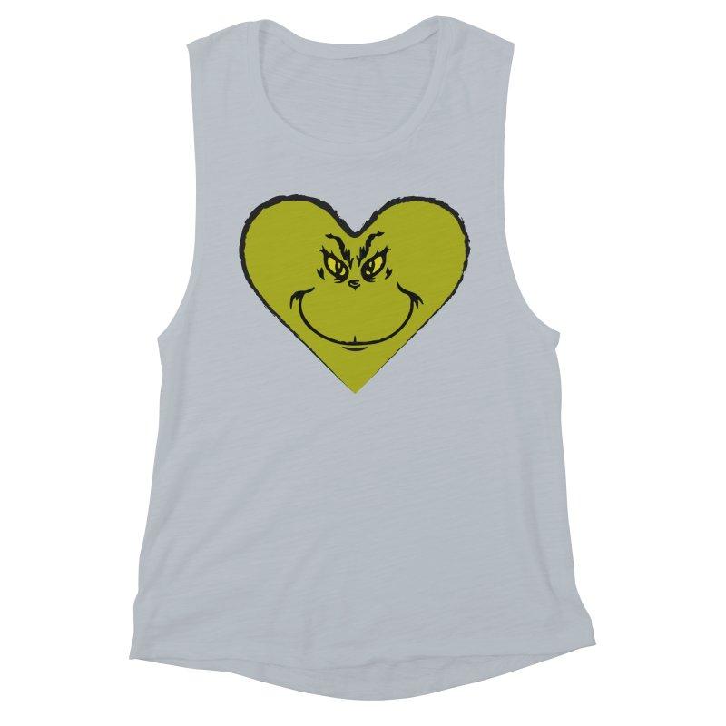 Grinch heart Women's Muscle Tank by daniac's Artist Shop