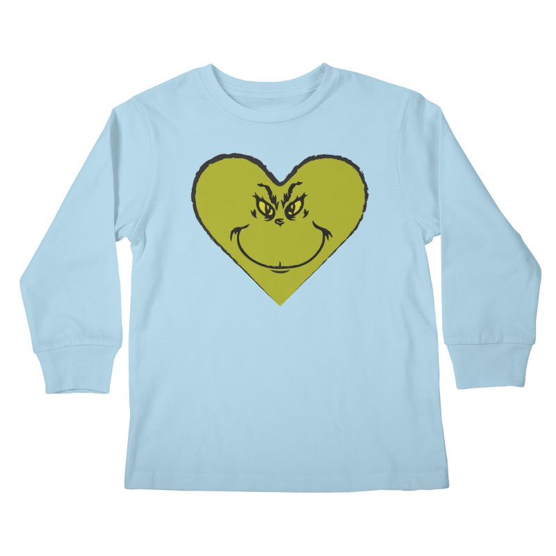 Grinch heart Kids Longsleeve T-Shirt by daniac's Artist Shop