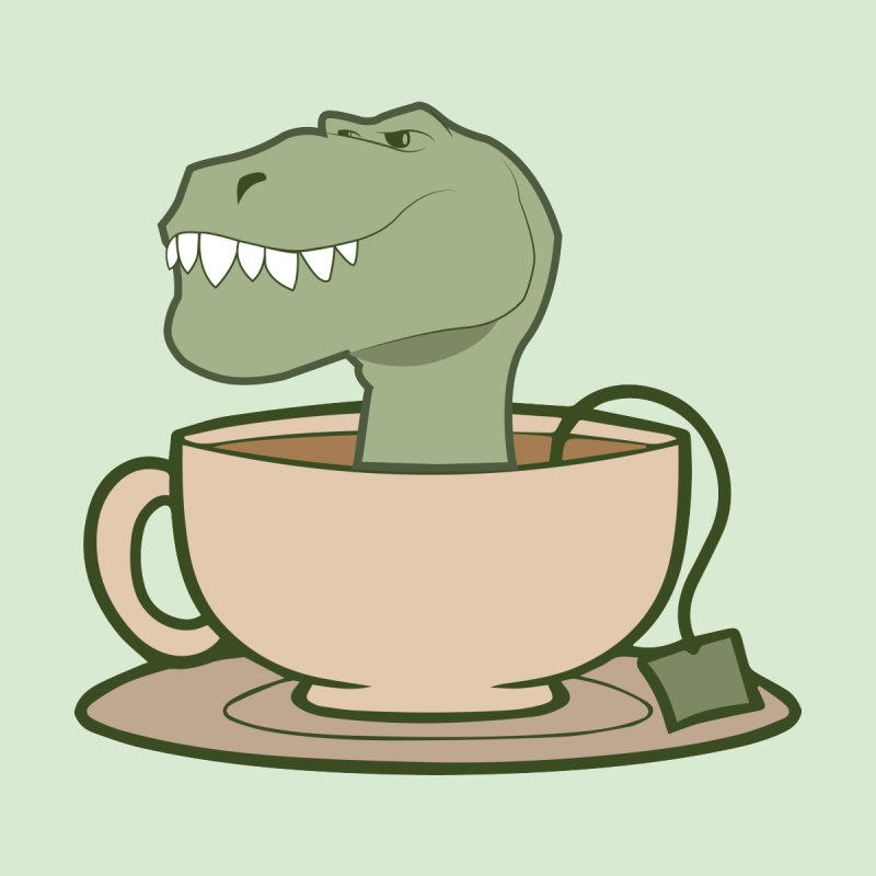Tea Rex   by daniac's Artist Shop