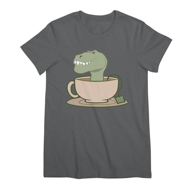 Tea Rex Women's T-Shirt by daniac's Artist Shop
