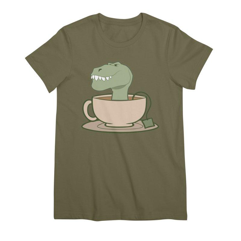 Tea Rex Women's Premium T-Shirt by daniac's Artist Shop