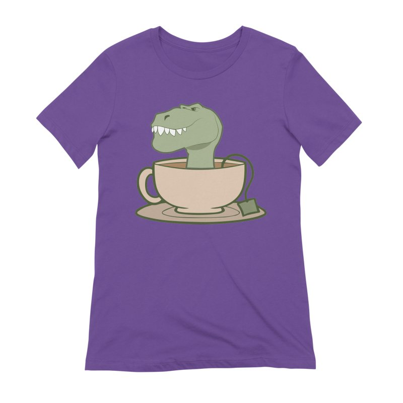 Tea Rex Women's Extra Soft T-Shirt by daniac's Artist Shop