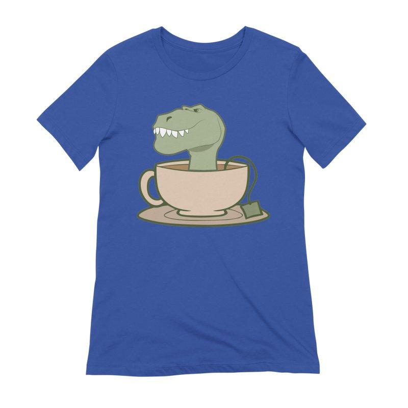 Tea Rex Women's Extra Soft T-Shirt by daniac's Artist Shop
