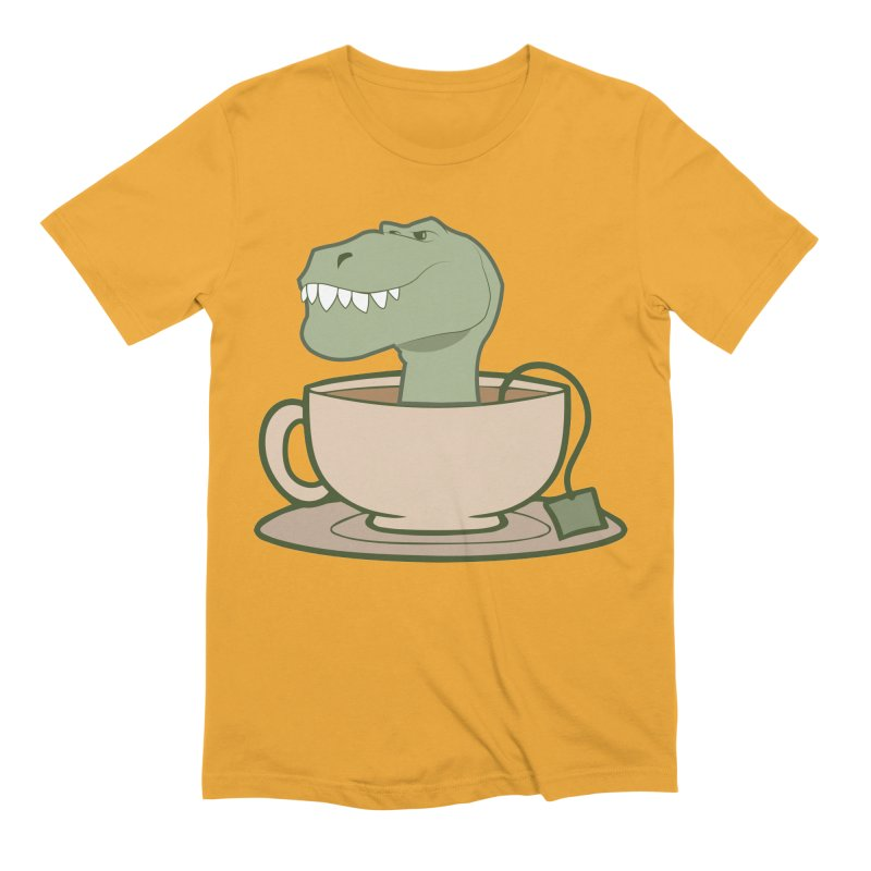 Tea Rex Men's Extra Soft T-Shirt by daniac's Artist Shop