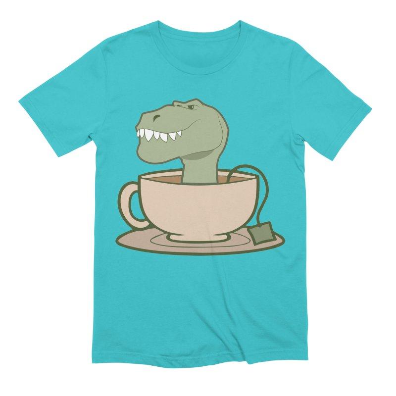 Tea Rex Men's Extra Soft T-Shirt by daniac's Artist Shop