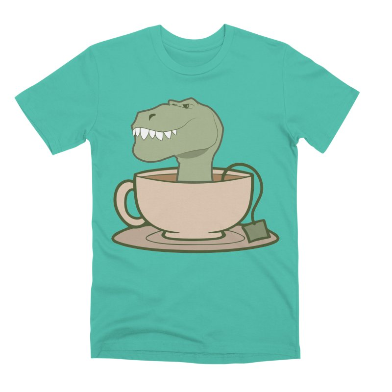 Tea Rex Men's Premium T-Shirt by daniac's Artist Shop