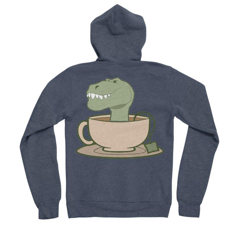 Tea Rex Men's Sponge Fleece Zip-Up Hoody by daniac's Artist Shop