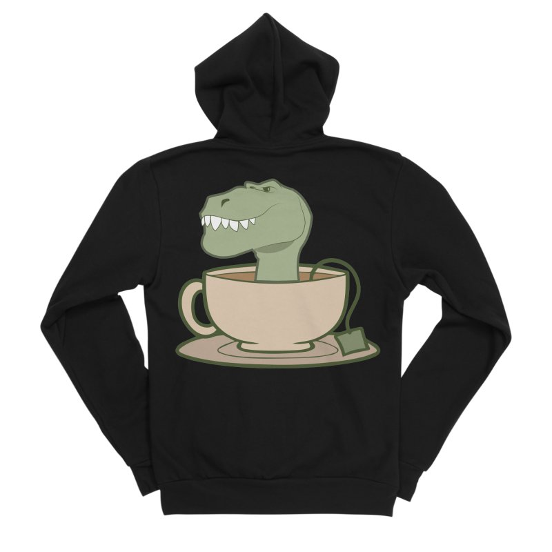 Tea Rex Women's Sponge Fleece Zip-Up Hoody by daniac's Artist Shop