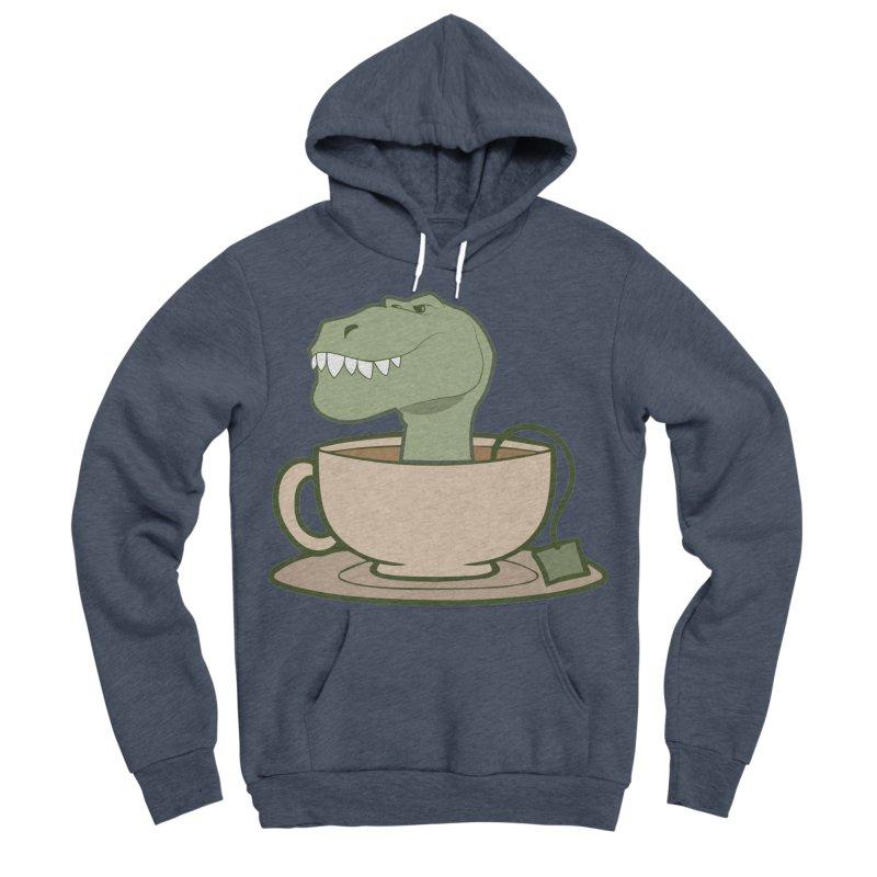 Tea Rex Men's Sponge Fleece Pullover Hoody by daniac's Artist Shop