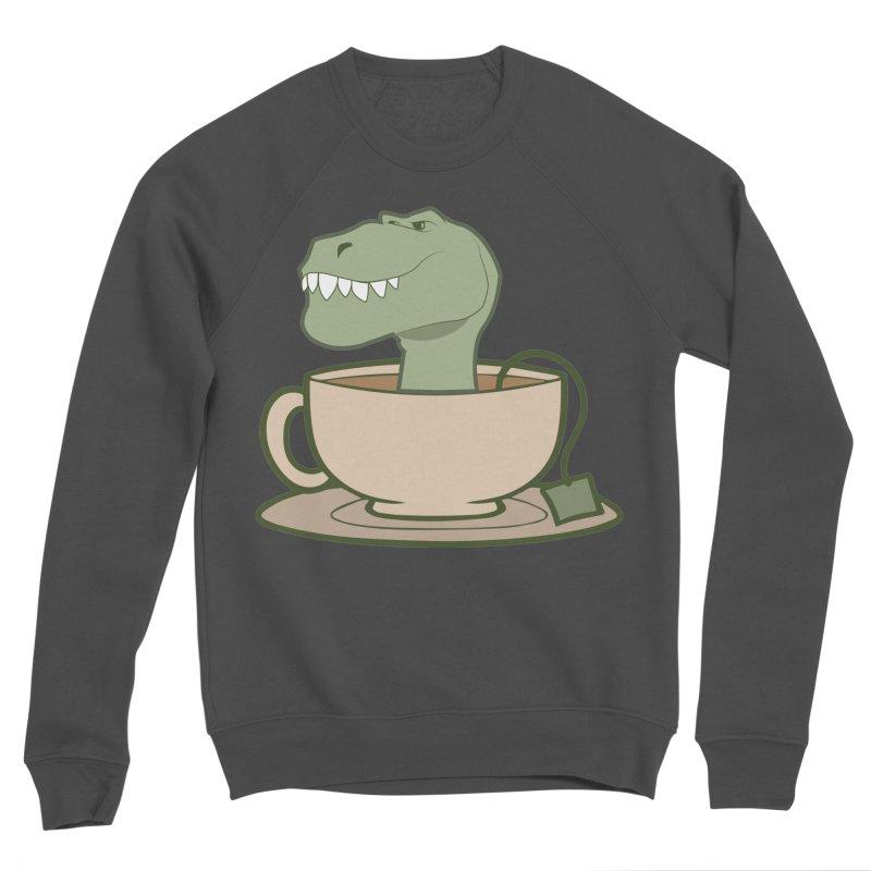 Tea Rex Men's Sponge Fleece Sweatshirt by daniac's Artist Shop