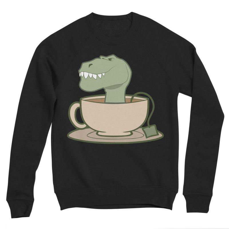 Tea Rex Women's Sponge Fleece Sweatshirt by daniac's Artist Shop
